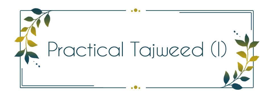 Practical Tajweed in Quran Recitation (I)