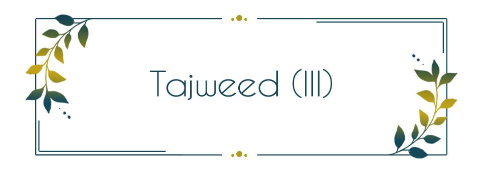Tajweed in Quran Recitation (III)