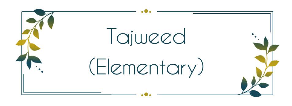 Tajweed in Quran Recitation - Elementary